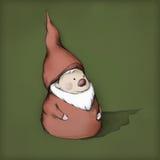 Peu de Gnome avec la barbe et le chapeau Photos libres de droits