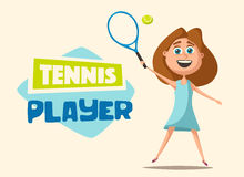 Peu de joueur de tennis Illustration de vecteur de dessin animé illustration de vecteur
