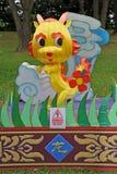 Peu de lanterne de soie de dragon Image libre de droits