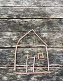 Peu de maison faite de bâtons Image stock