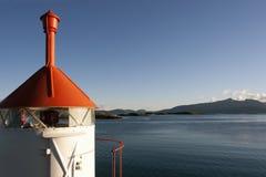 Peu de phare en Norvège Image libre de droits