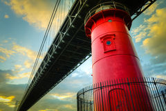 Peu de phare rouge Photographie stock libre de droits