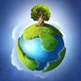 Peu de planète verte illustration stock