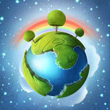 Peu de planète verte illustration libre de droits