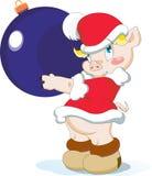 Peu de porc de Noël Photographie stock libre de droits