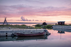Peu de port chez l'Estonie images libres de droits