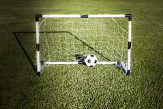 Peu de porte du football Photographie stock