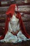 Peu de portrait rouge de capuchon Photo stock