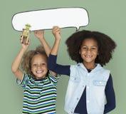 Peu de robot Toy Chatbox d'amitié d'enfant Photos libres de droits