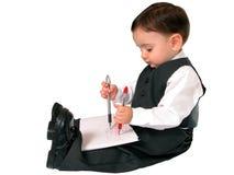 Peu de série d'homme d'affaires : Ambidextre photos stock