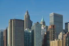 Peu de skycrapers sur Manhattar à New York City images stock