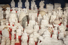 Peu de statue de Bouddha de marbre de souvenir Image stock