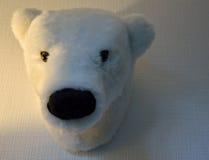 Peu de tête de peluche d'un ours blanc Photos libres de droits