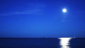 Peu de temps après la lever de la lune Photographie stock