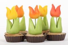 Peu de tulipes de massepain Photos stock