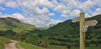 Peu de vallée Cumbria R-U de Langdale image libre de droits