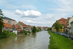 Peu de Venise à Bamberg Photos libres de droits