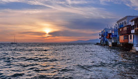 Peu de Venise, Mykonos Images stock
