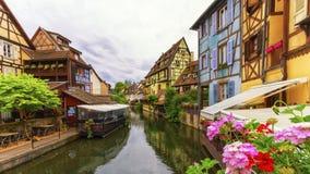 Peu de Venise, petit Venise, à Colmar, Alsace, France Photographie stock libre de droits