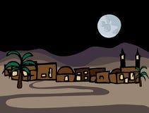 Peu de ville de désert du Proche Orient Photo libre de droits