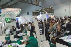 Peu de visite 2015, échange international de personnes de tourisme à Milan, Italie Photo stock