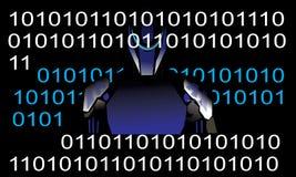 Peu et robot illustration libre de droits
