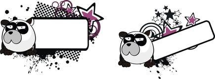 Peu l'espace de copie de bande dessinée de style de boule d'ours panda illustration de vecteur