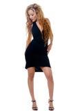 Peu robe noire Image libre de droits
