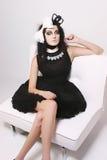 Peu robe noire Images libres de droits