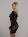 Peu robe noire Photo stock