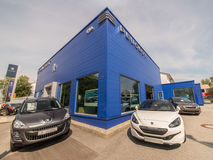 Peugeot αυτοκίνητα στοκ εικόνες