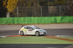 Peugeot 207 αυτοκίνητο συνάθροισης σε Monza Στοκ Εικόνα