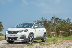 Peugeot 3008 ημέρα τεστ δοκιμής του 2018 στοκ φωτογραφίες με δικαίωμα ελεύθερης χρήσης