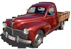 Peugeot 203, Truck, Pick-Up, Old Stock Photo