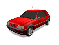 Peugeot 205 stock illustratie