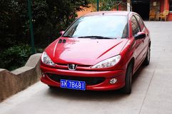 Peugeot 206 car Royalty Free Stock Photos