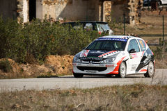 Peugeot 206 GTI during Portuguese Open Rally Stock Image