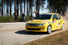 Peugeot 206 GTI during Portuguese Open Rally Stock Photo