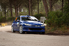Peugeot 206 RC during Rally Vidreiro 2012 Royalty Free Stock Photography