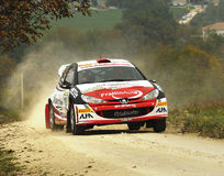 Peugeot 206 WRC rally car. The Peugeot 206 WRC driven by Edoardo Bresolin during the 4th edition of Rally Ronde Balcone delle Marche, november 12, 2011 Stock Photography