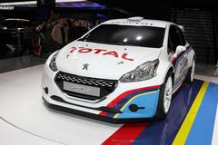 The Peugeot 208 Stock Photo