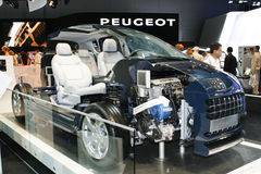 Peugeot 3008 Hybrid 4. At the Moscow International Automobile Salon (MIAS-2010) August 25 - September 5 Stock Images