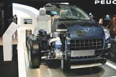 Peugeot 3008 Hybrid 4. At the Moscow International Automobile Salon (MIAS-2010) August 25 - September 5 Stock Image