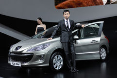 Peugeot 308 sw  and model Stock Photos
