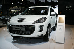 Peugeot 4007. At the Moscow International Automobile Salon (MIAS-2010) August 25 - September 5 Stock Photography