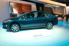 Peugeot 408 - Rysk premiär Arkivfoton