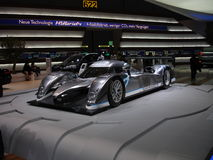 Peugeot 908 Hybrid. Hybrid experimental version of the 2009 LeMans 24H race winner Peugeot 908 lmp1. The car was exposed at the 2009 geneva autoexpo Royalty Free Stock Photos