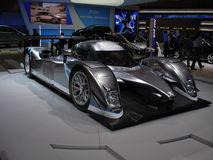 Peugeot 908 Hybrid. Hybrid experimental version of the 2009 LeMans 24H race winner Peugeot 908 lmp1. The car was exposed at the 2009 geneva autoexpo Royalty Free Stock Image