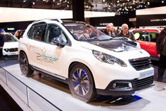 Peugeot 2008 air hybrid car Stock Image