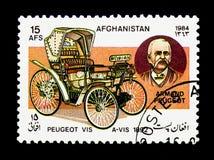 Peugeot angesichts (1892) und Armand Peugeot, Automobile serie, c Stockbild